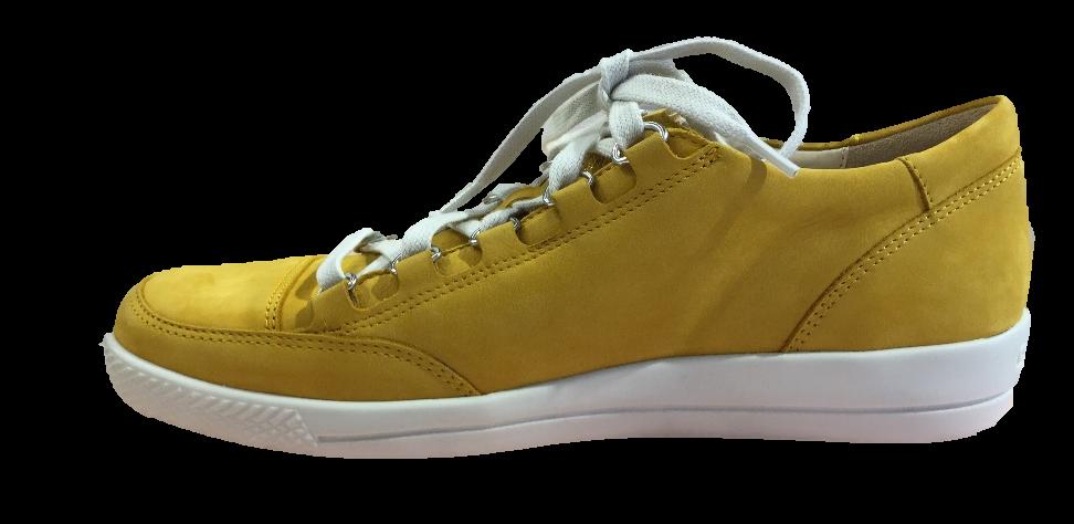 Keltainen kävelykenkä
